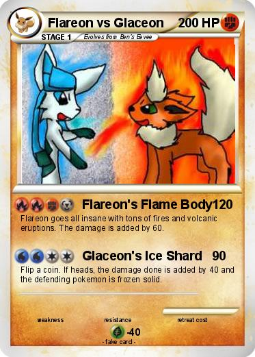 Pokemon Flareon vs Glaceon
