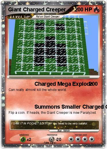Pokemon Giant Charged Creeper