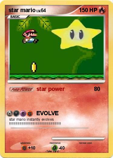 Pokemon star mario