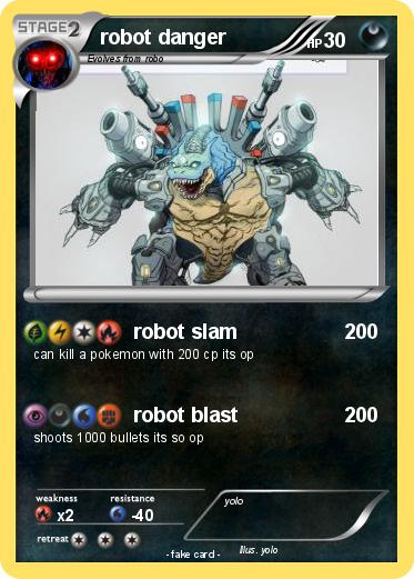 Pokemon robot danger