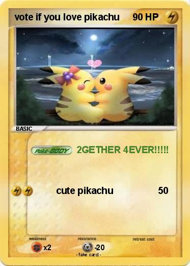 Pokemon vote if you love pikachu
