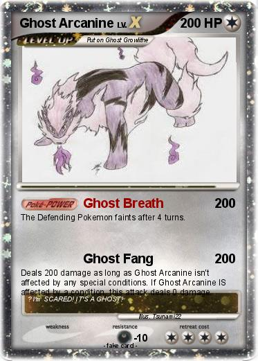Pokemon Ghost Arcanine