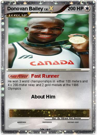 Pokemon Donovan Bailey