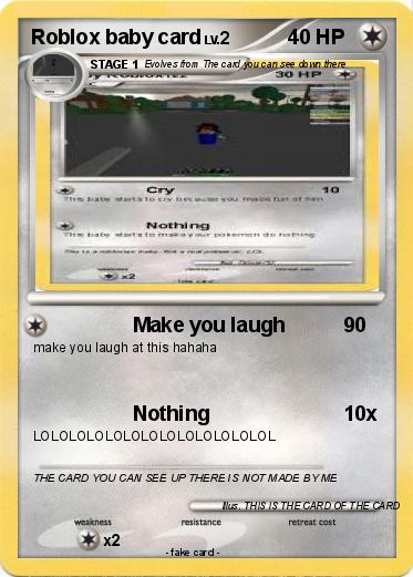 Pokemon Roblox baby card