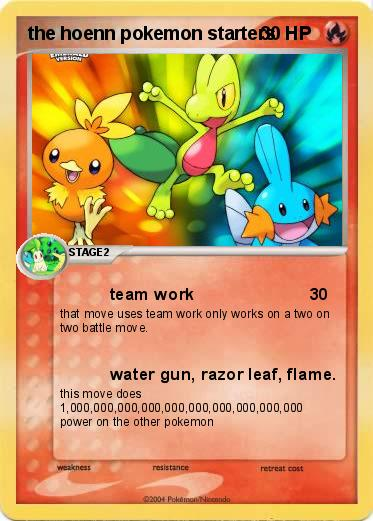 Pokemon the hoenn pokemon starters