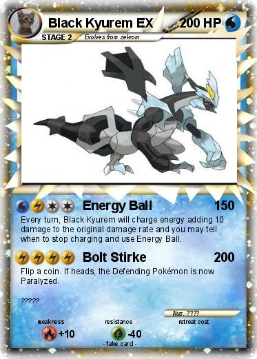 Pokemon Black Kyurem EX