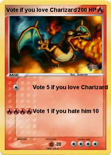 Pokemon Vote if you love Charizard