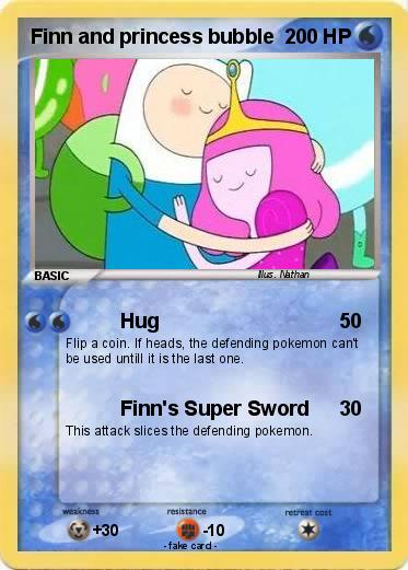 Pokemon Finn and princess bubble