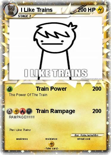 Pokemon I Like Trains
