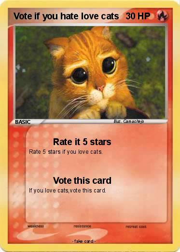 Pokemon Vote if you hate love cats