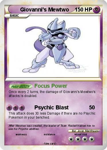 Pokemon Giovanni's Mewtwo