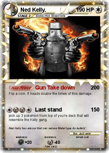 Pokemon Ned Kelly.