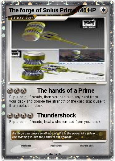 Pokemon The forge of Solus Prime