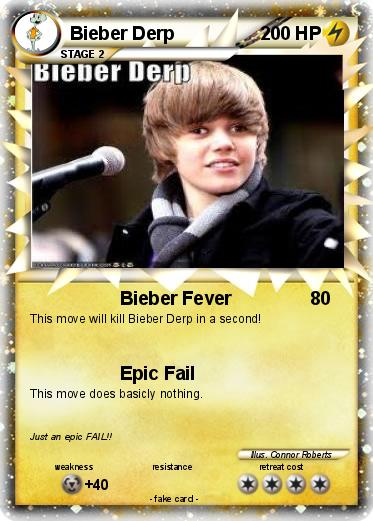 Pokemon Bieber Derp