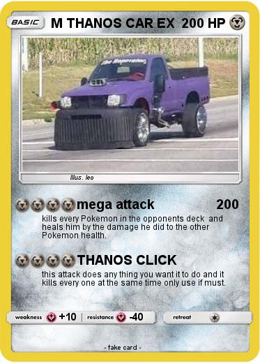 Pokemon M THANOS CAR EX