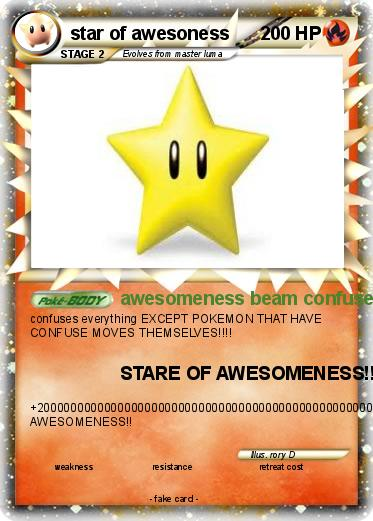 Pokemon star of awesoness