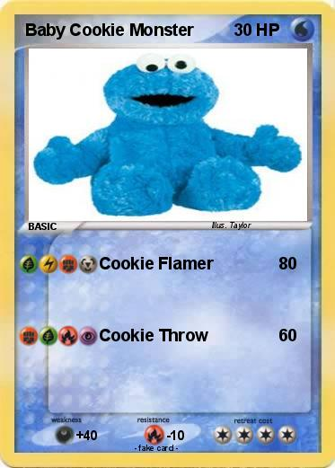 Pokemon Baby Cookie Monster