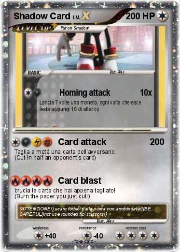 Pokemon Shadow Card