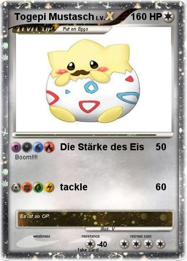 Pokemon Togepi Mustasch