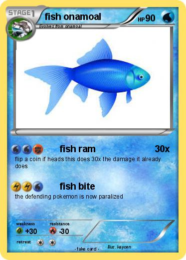 Pokemon fish onamoal