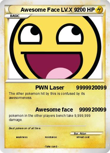 Pokemon Awesome Face LV.X 9