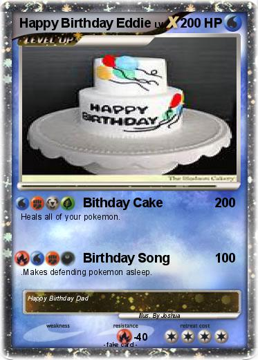 Pokemon Happy Birthday Eddie