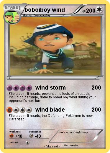 Pokemon boboiboy wind