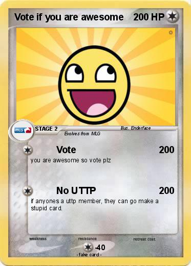 Pokemon Vote if you are awesome