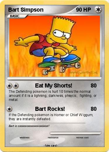 Pokemon Bart Simpson