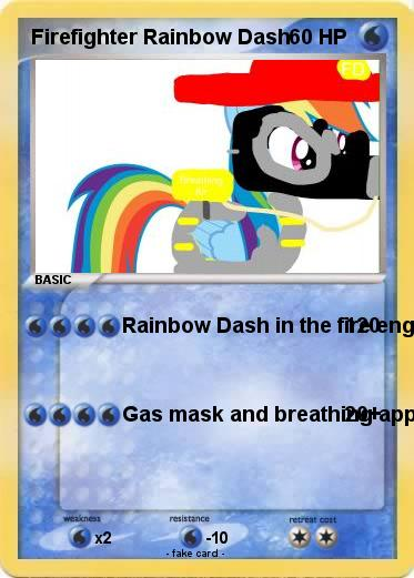 Pokemon Firefighter Rainbow Dash
