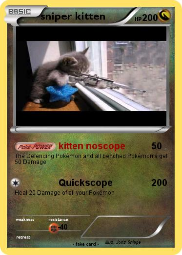 Pokemon sniper kitten