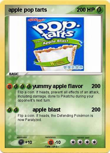 Pokemon apple pop tarts