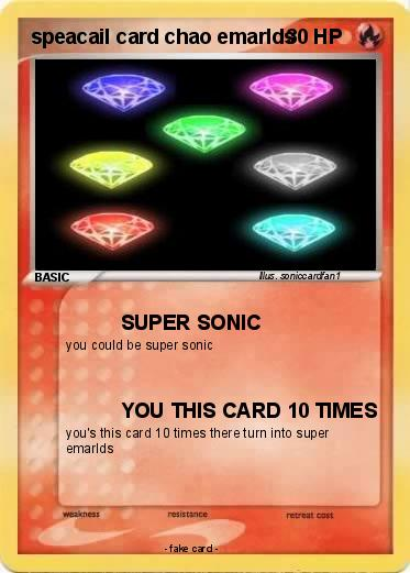 Pokemon speacail card chao emarlds