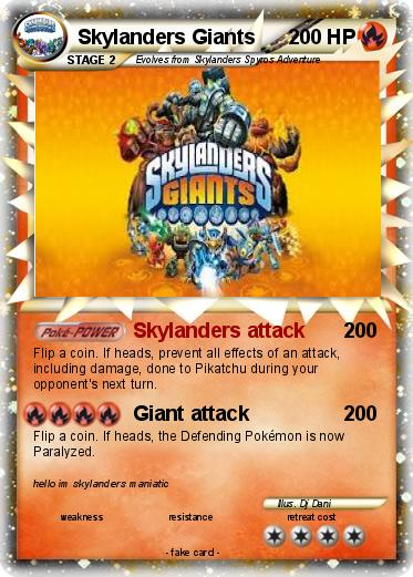 Pokemon Skylanders Giants