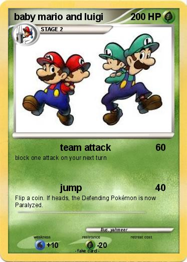 Pokemon baby mario and luigi