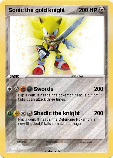 Pokemon Sonic the gold knight
