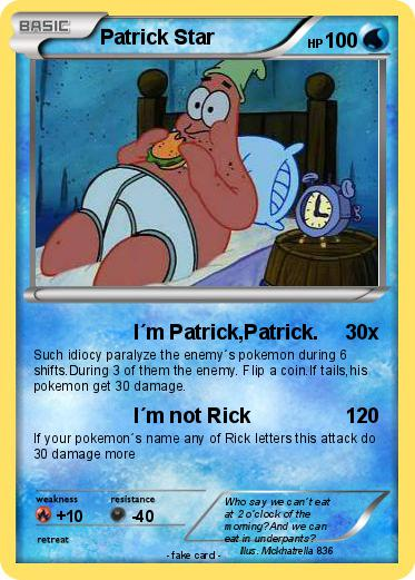 Pokemon Patrick Star