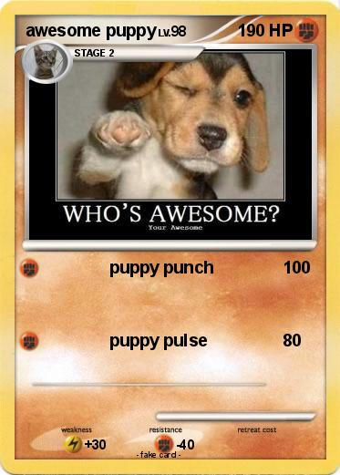 Pokemon awesome puppy