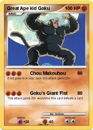 Pokemon Great Ape kid Goku