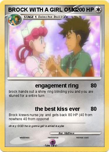 Pokemon BROCK WITH A GIRL OMG
