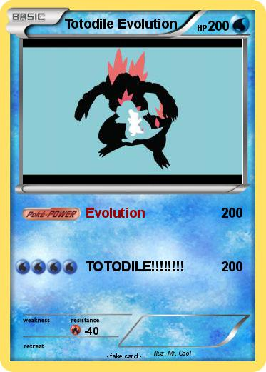 Pokemon Totodile Evolution