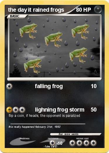 Pokemon the day it rained frogs