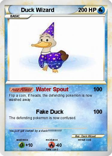 Pokemon Duck Wizard
