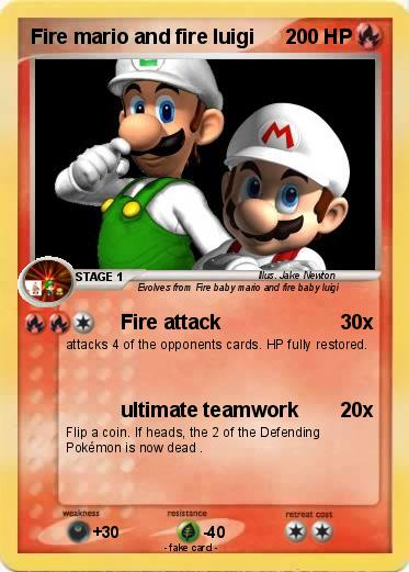 Pokemon Fire mario and fire luigi