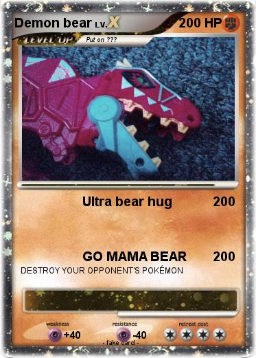Pokemon Demon bear