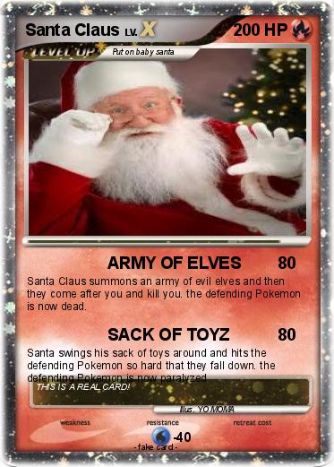 Pokemon Santa Claus