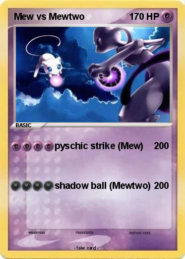 Pokemon Mew vs Mewtwo
