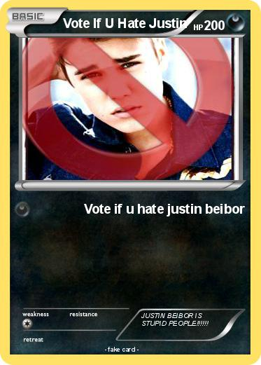 Pokemon Vote If U Hate Justin