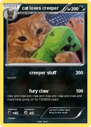 Pokemon cat loves creeper