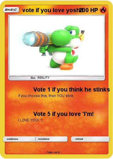 Pokemon vote if you love yoshi!